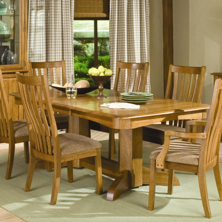 Intercon Highland Park  Trestle Dining Table - Item Number: 4296-RUS