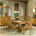 Intercon Highland Park  Trestle Dining Table