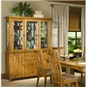 Intercon Highland Park  China Cabinet - Item Number: 6034-RUS-BSE+TOP