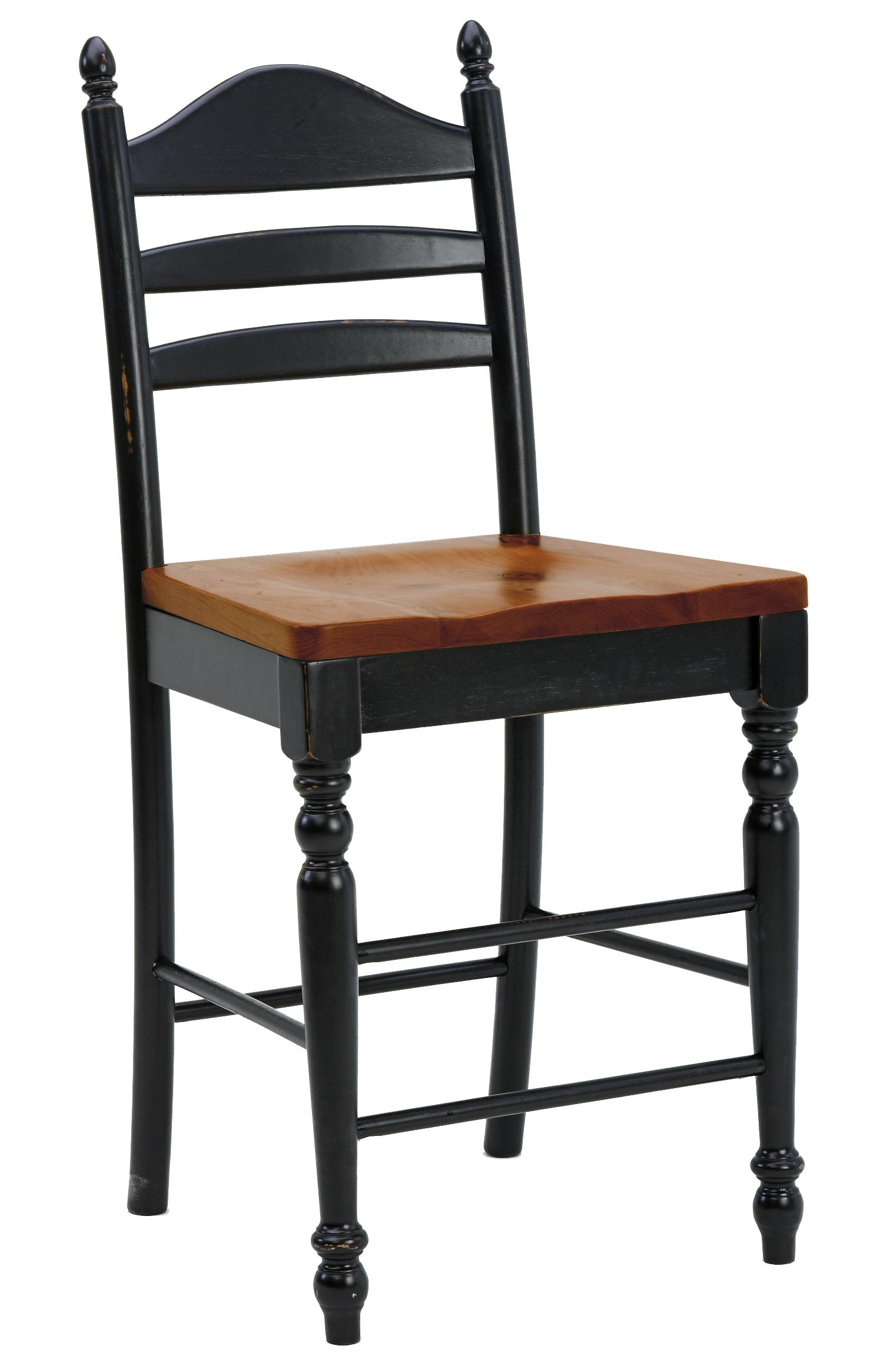 "Intercon Hillside Village 30"" Ladder Back Bar Stool - Item Number: HV-BS-489W-BCH-K30"