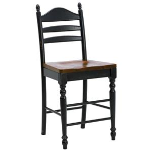"Intercon Hillside Village 24"" Ladder Back Bar Stool"