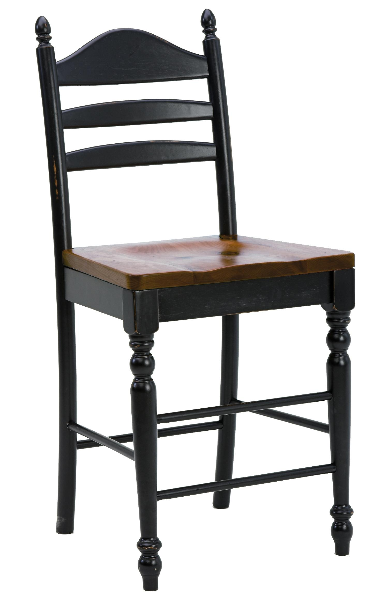 "Intercon Hillside Village 30"" Ladder Back Bar Stool - Item Number: HV-BS-489W-BCN-K30"