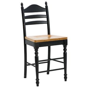 "Intercon Hillside Village  30"" Ladder Back Bar Stool"