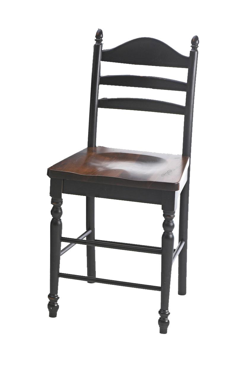 "Intercon Hillside Village  30"" Ladder Back Bar Stool - Item Number: HV-BS-489W-BTO-K30"