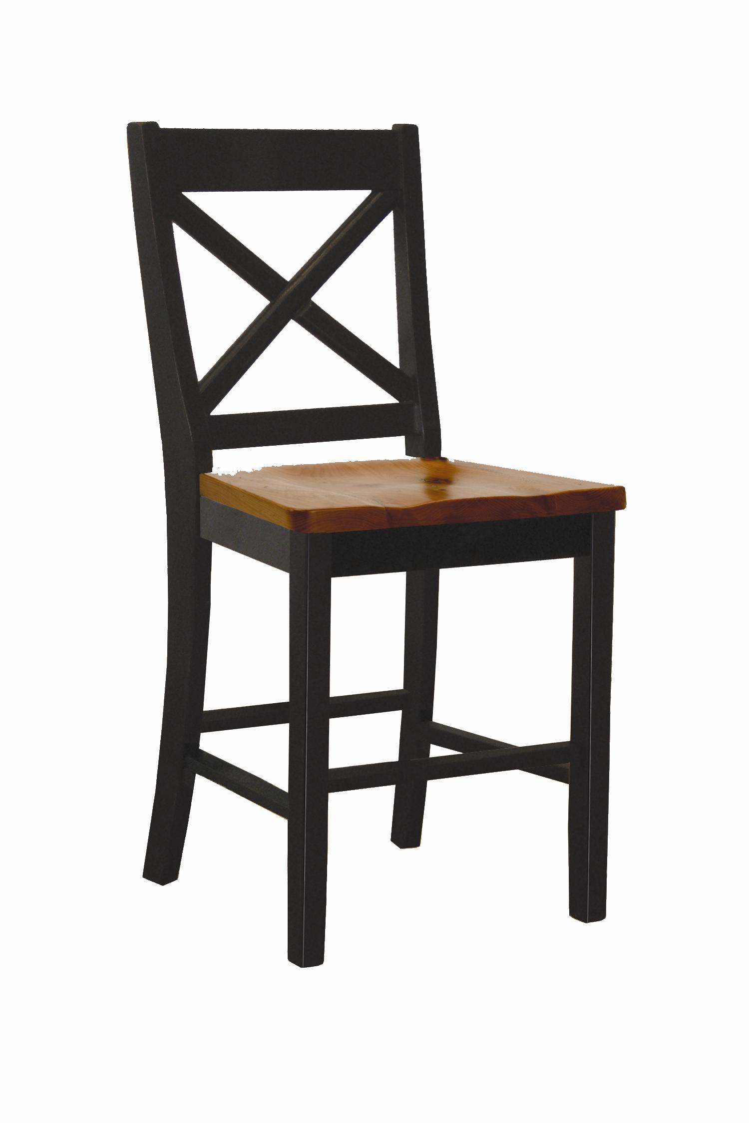 "Intercon Hillside Village 24"" ""X-Back"" Barstool  - Item Number: HV-BS-725W-BCH-K24"