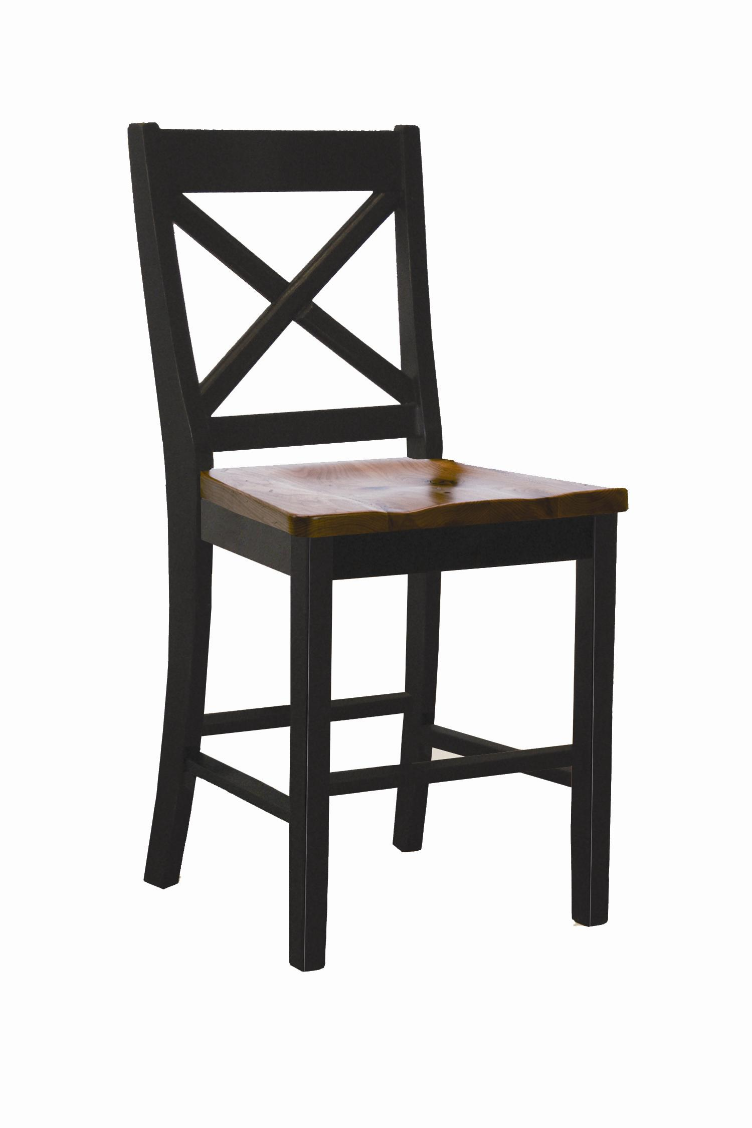 "Intercon Hillside Village 24"" ""X-Back"" Barstool  - Item Number: HV-BS-725W-BCN-K24"
