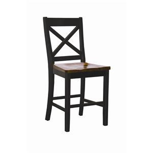 "Intercon Hillside Village 24"" ""X-Back"" Barstool"