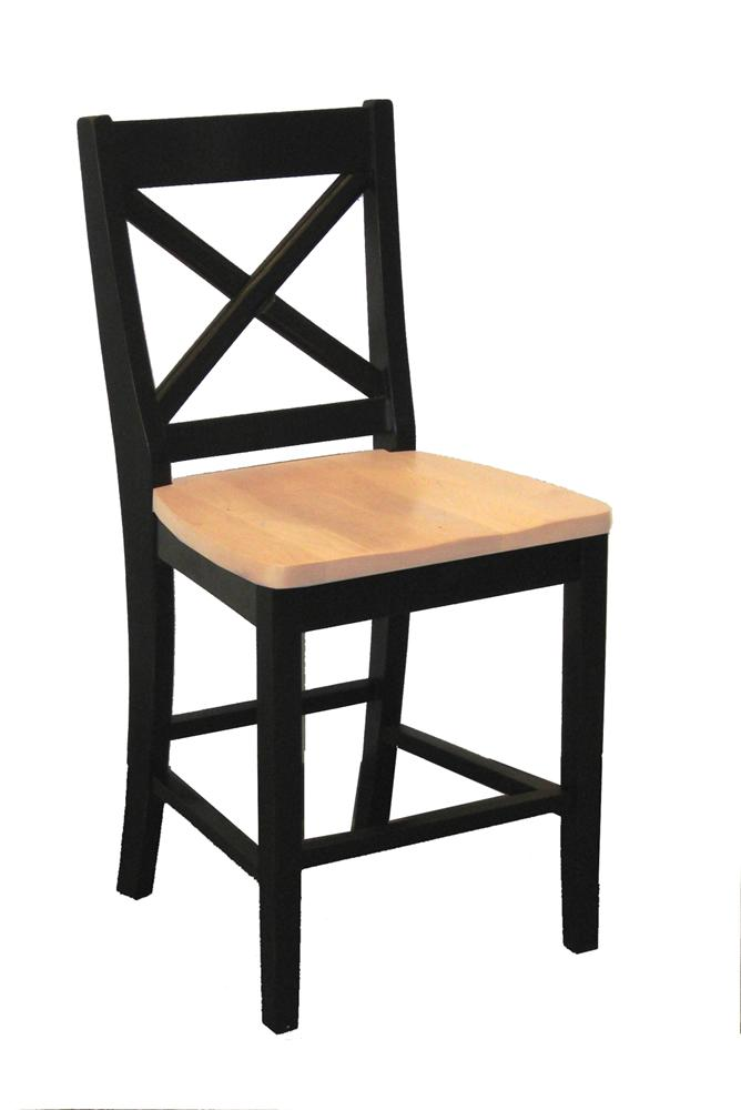 "Intercon Hillside Village  24"" ""X-Back"" Barstool  - Item Number: HV-BS-725W-BHO-K24"