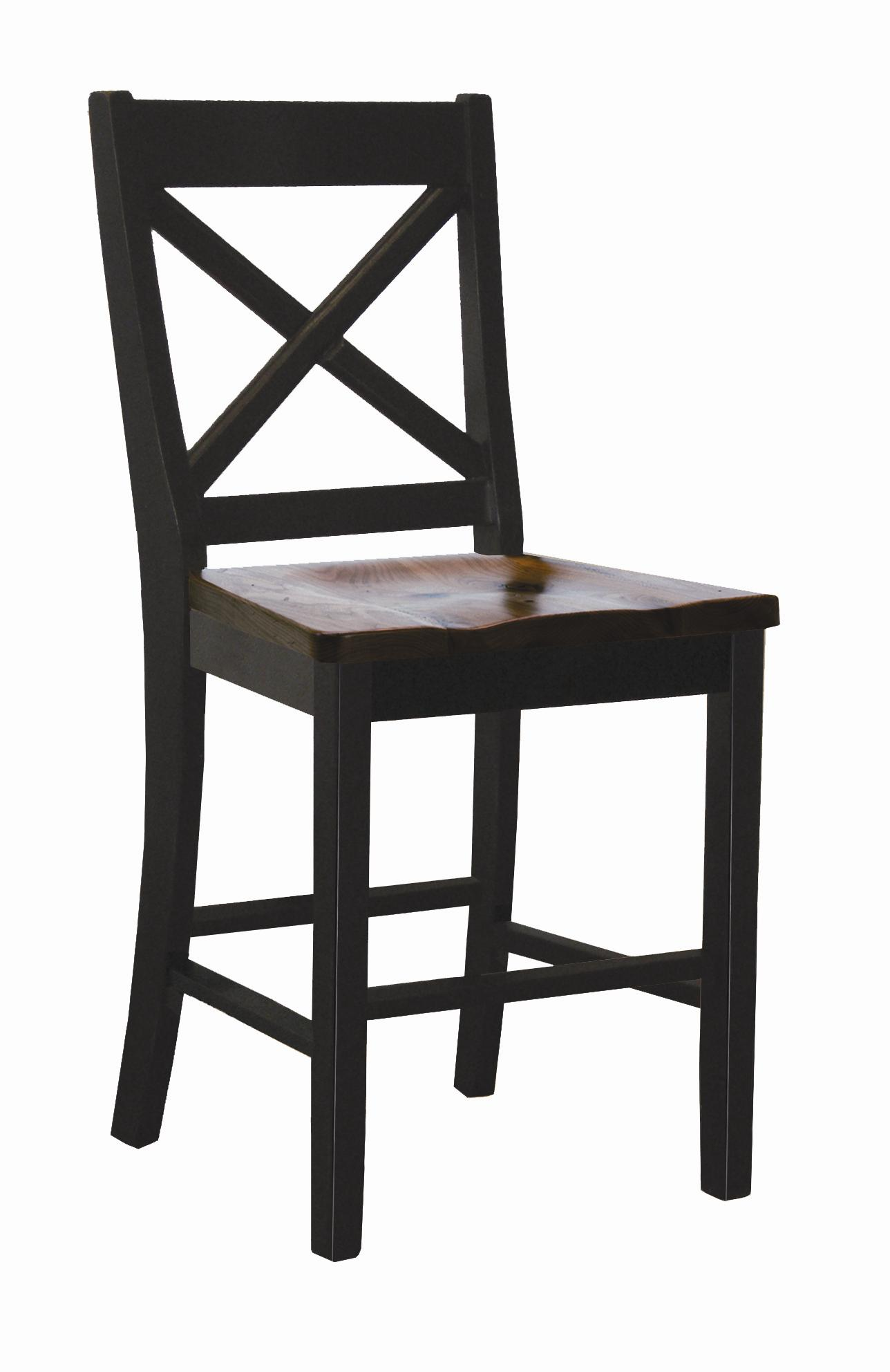 "Intercon Hillside Village  24"" ""X-Back"" Barstool  - Item Number: HV-BS-725W-BTO-K24"