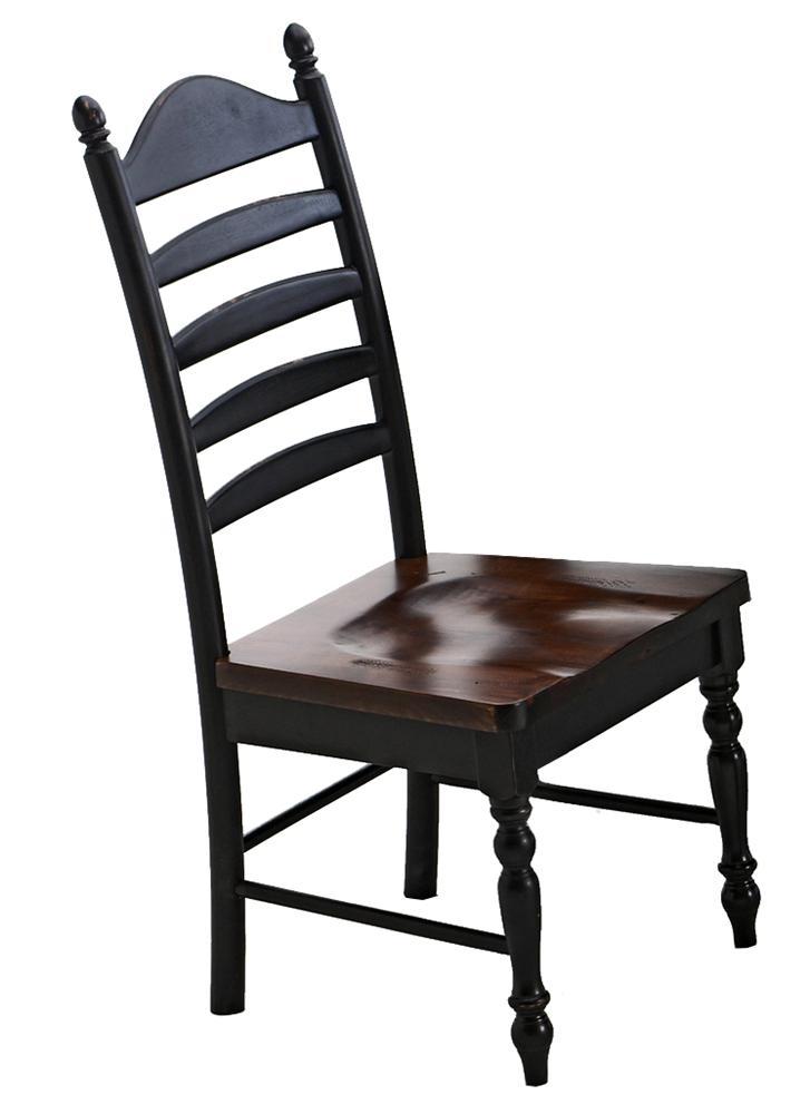 Intercon Hillside Village  Ladder Back Side Chair - Item Number: HV-CH-489W-BTO-RTA