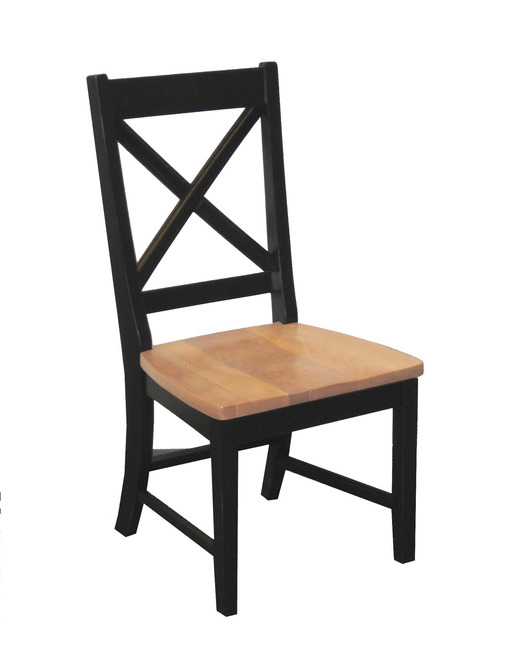"Intercon Hillside Village  ""X-Back"" Side Chair - Item Number: HV-CH-725W-BHO-RTA"