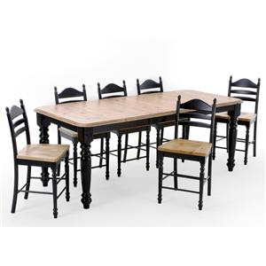 Intercon Hillside Village  Four Leg Table and Ladder Back Bar Stools