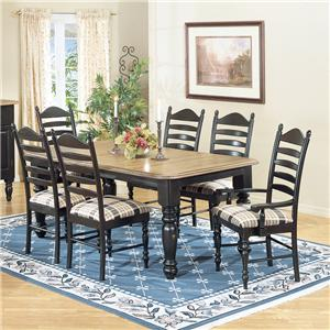 Intercon Hillside Village  Four Leg Dining Table