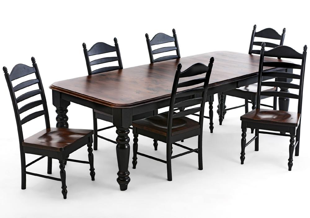 Intercon Hillside Village  Four Leg Dining Table - Item Number: HV-TA-TURN-BTO-BSE+TOP