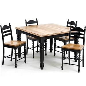 Intercon Hillside Village  Gathering Table and Ladder Back Stools