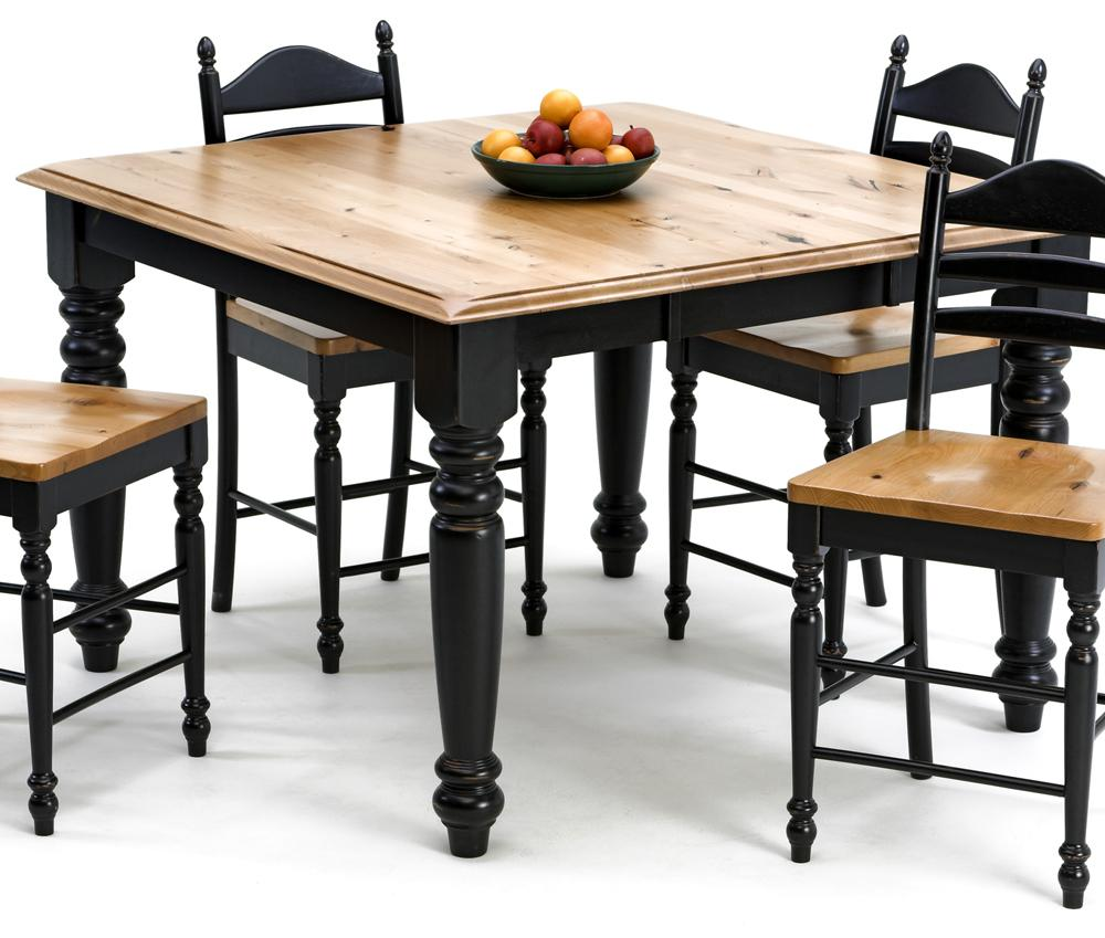 Intercon Hillside Village  Gathering Table - Item Number: HV-TA-TURNGA-BLK-BP+5454-BHO-TOP