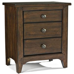 Intercon Jackson 3 Drawer Nightstand
