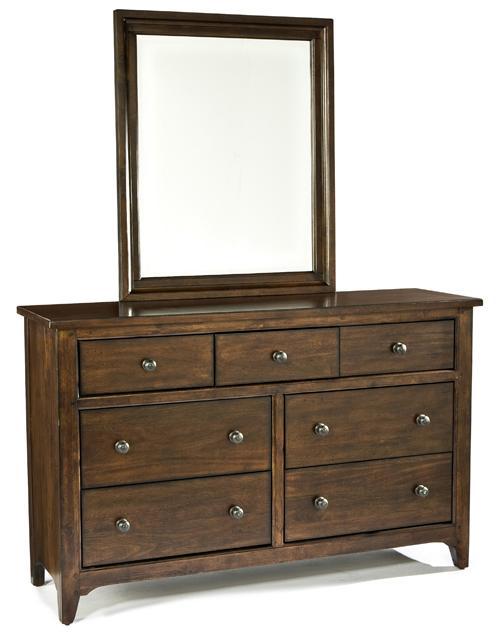 Intercon Jackson Dresser and Mirror Combo - Item Number: JK-BR-5007-RAI-C+JK-BR-5091-RAI-C