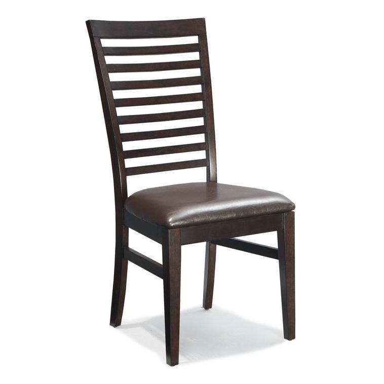 Intercon Kashi Ladder Back Side Chair with Cushion - Item Number: KI-CH-989C-CHA-RTA