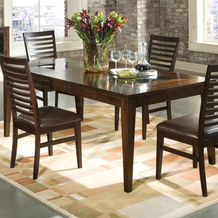 Intercon Kashi Kashi Dining Table with Glass Inlays - Item Number: KI-TA-4278-CHA-C