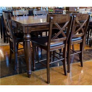 Intercon Kingston  Gathering Table & 6 Barstools