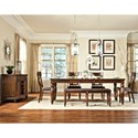 Intercon Caprice Backless Dining Bench with Upholstered Seat