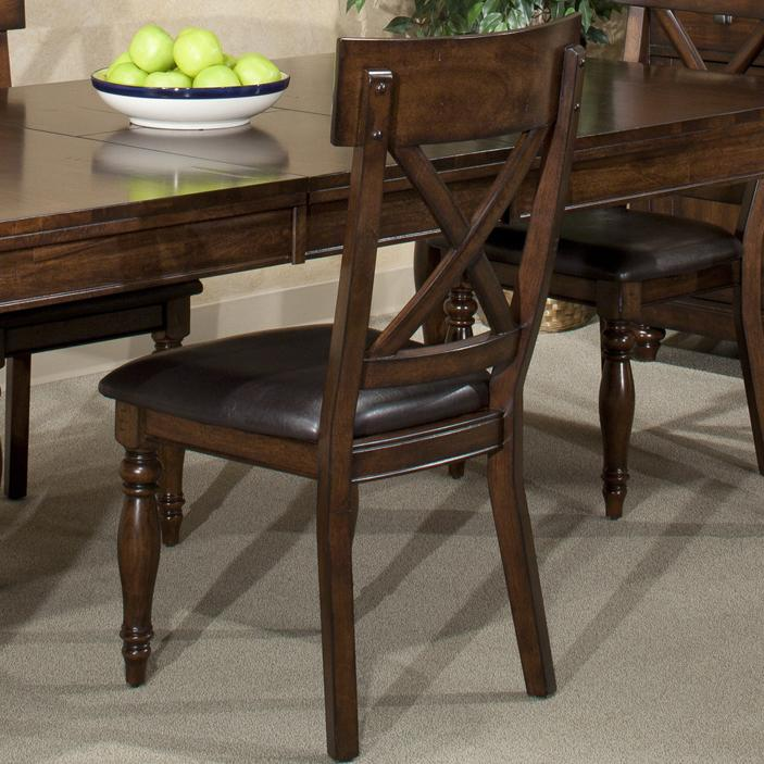 Intercon Kingston  X-Back Side Chair - Item Number: KG-CH-735C-RAI