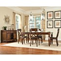 Intercon Kingston  X-Back Side Chair with Upholstered Seat