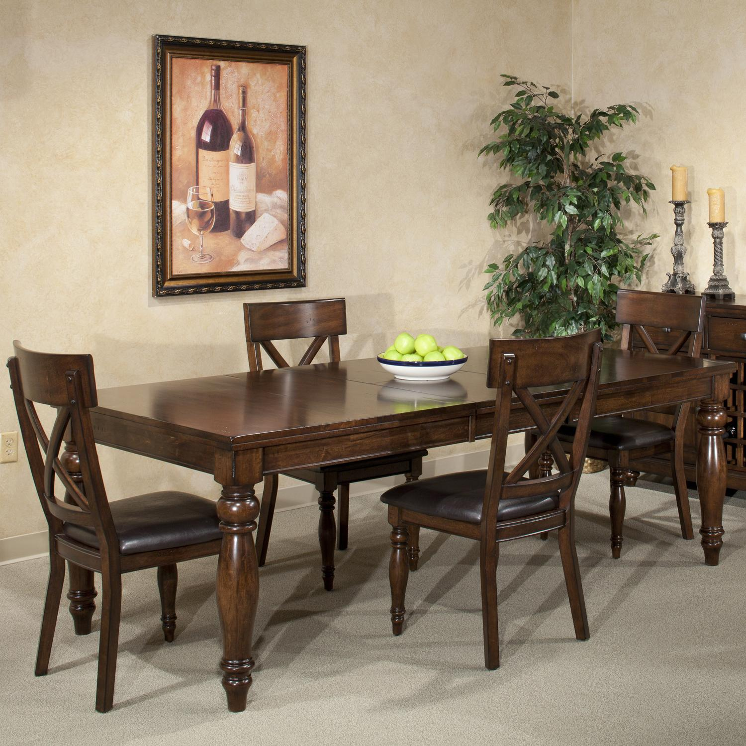 Intercon Kingston  5 Piece Dining Set - Item Number: KG-TA-4290B-RAI-C+4xCH-735C-RAI
