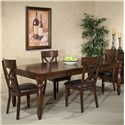 Belfort Select River Run Dining Leg Table - Table Shown with Side Chairs