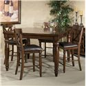 Belfort Select River Run Five Piece Gathering Table and Stool Set