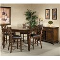 Belfort Select River Run Five Piece Gathering Table and Stool Set - Shown with Wine Server