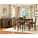 Intercon Kingston  5 Piece Gathering Table and Stool Set