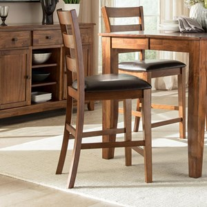 Transitional Bar Stool with Upholstered Seat