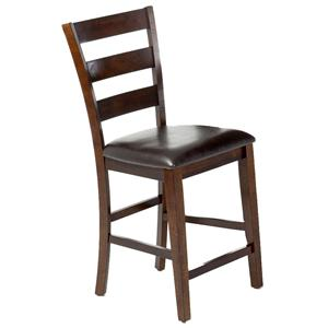 "Belfort Select Cabin Creek 24"" Ladder Barstool w/PU Seat"