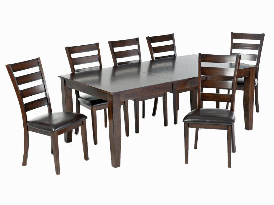 Intercon Kona 7-Piece Dining Set - Item Number: KA-TA-38130-RAI-BSE+TOP+6xCH-669L