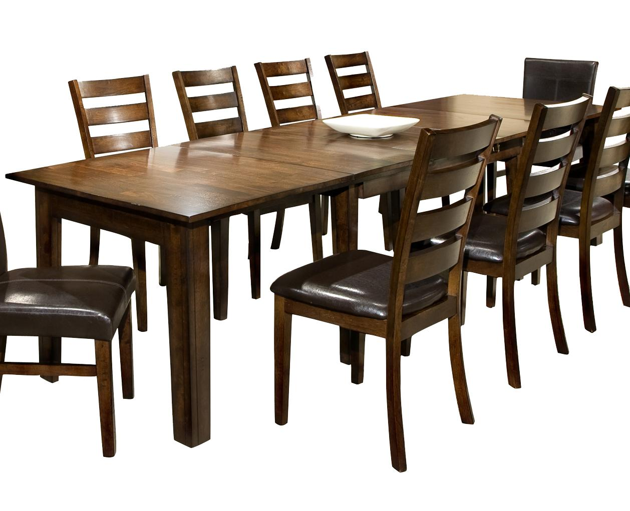 Intercon Kona Dining Table with 3 Leaves - Item Number: KA-TA-38130-RAI-BSE+TOP