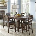 Intercon Kona Counter Height Dining Set - Item Number: KA-TA-4090-RAI+4xBS-669L+BS-669LB
