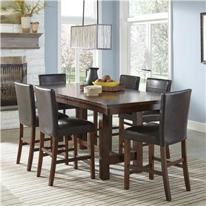 Intercon Kona Counter Height Dining Set with Parsons Stools