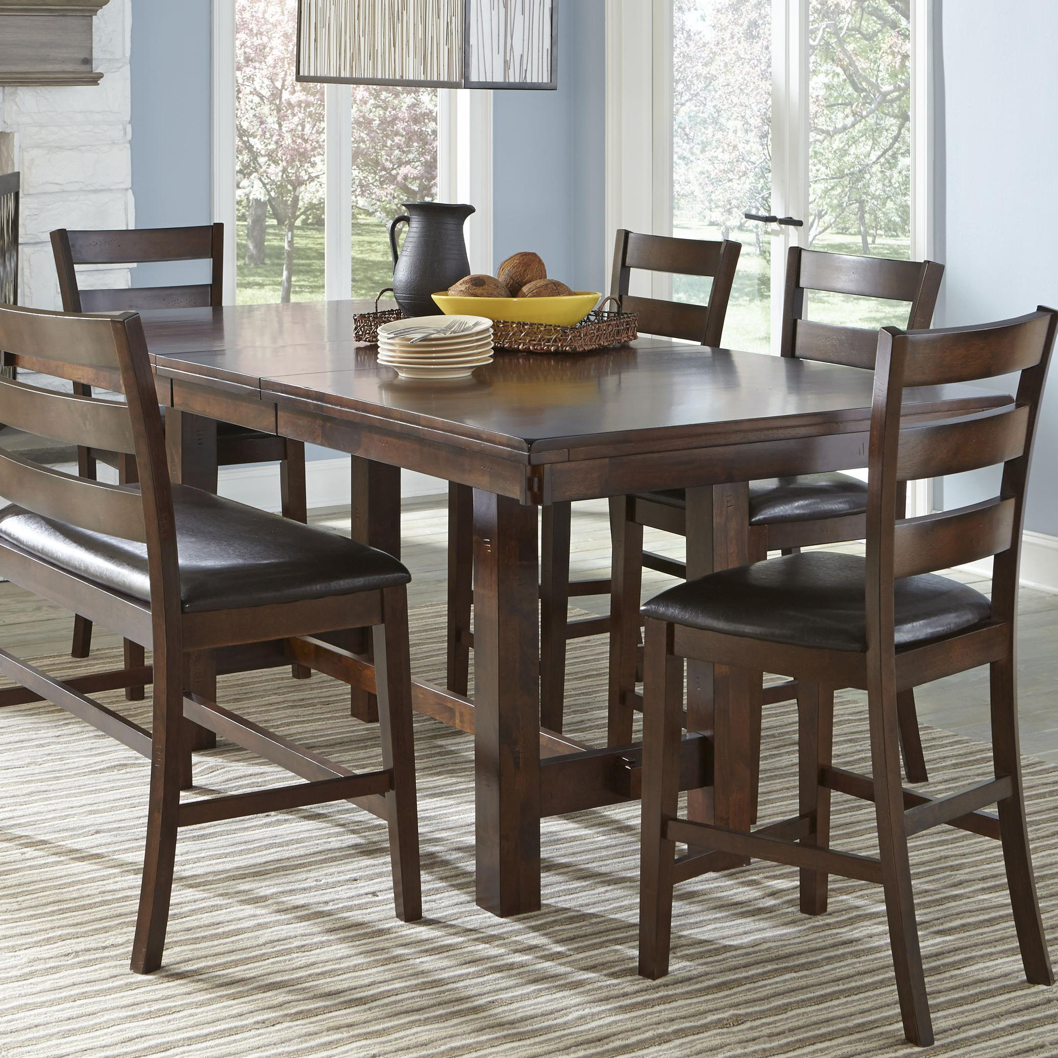 Intercon kona counter height table with leaf wayside furniture pub tables Counter height bench