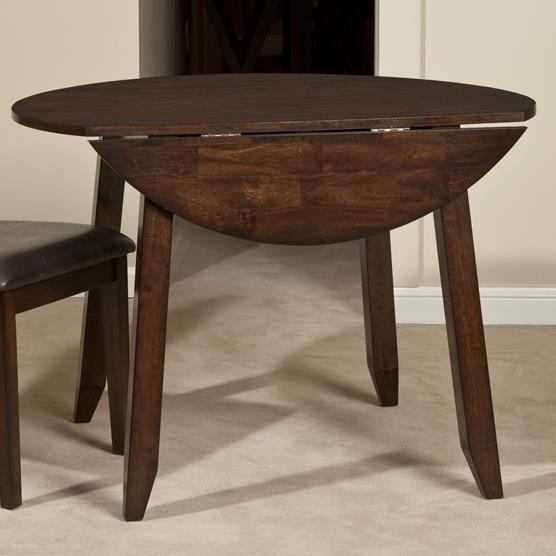 Intercon Kona Wooden Round Top Drop Leaf Dining Table | Wayside ...