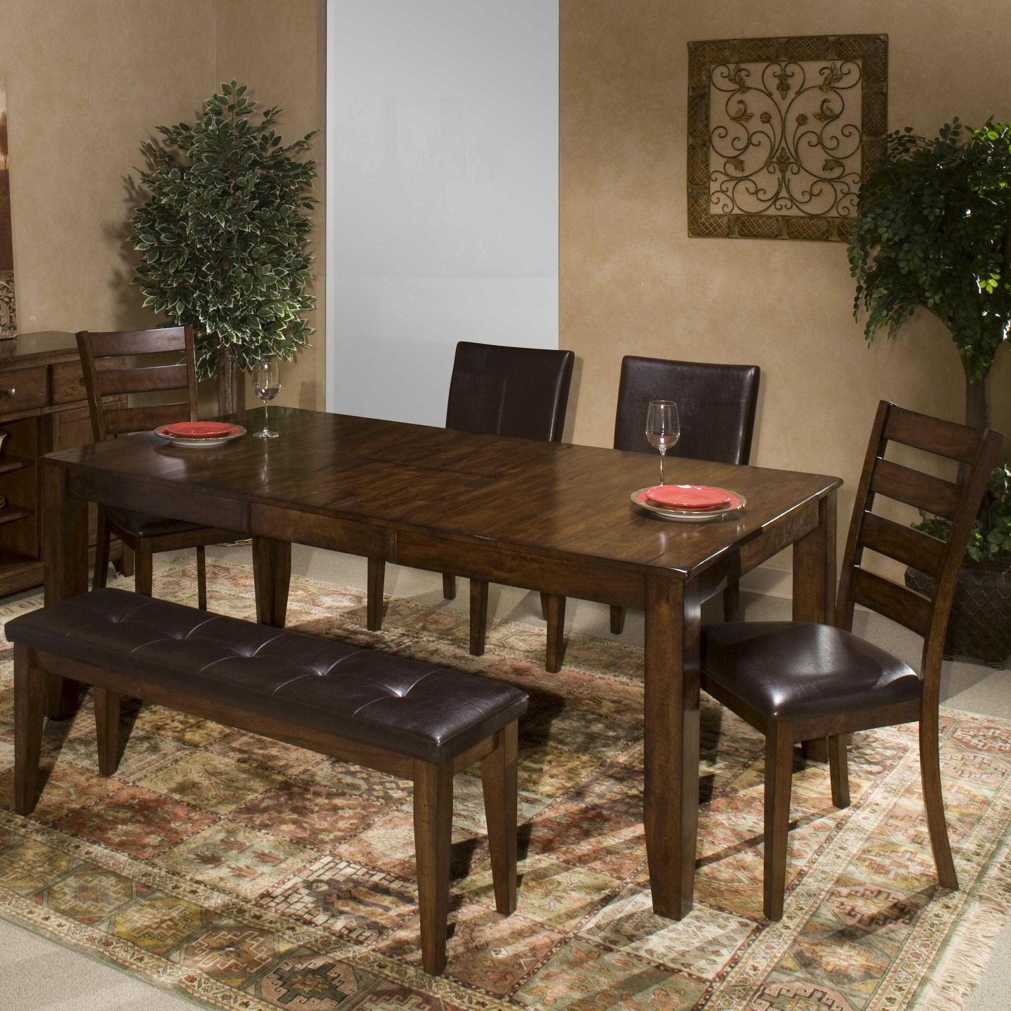 Kona 6 Piece Dining Room Set With Parson S And Ladder Back Side Chairs By Intercon At Darvin Furniture