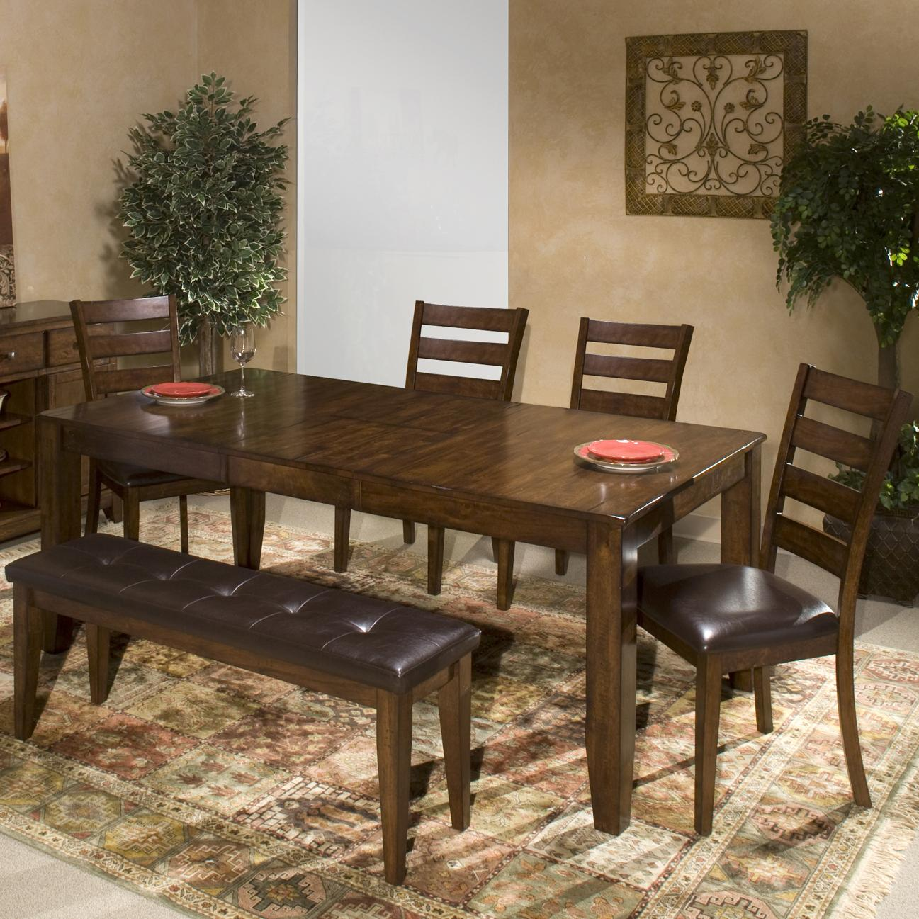 Kona 6 Piece Mango Wood Dining Room Set by Intercon at Darvin Furniture