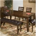 Intercon Kona Dining Table with Butterfly Leaf - Item Number: KA-TA-4278B-RAI-C