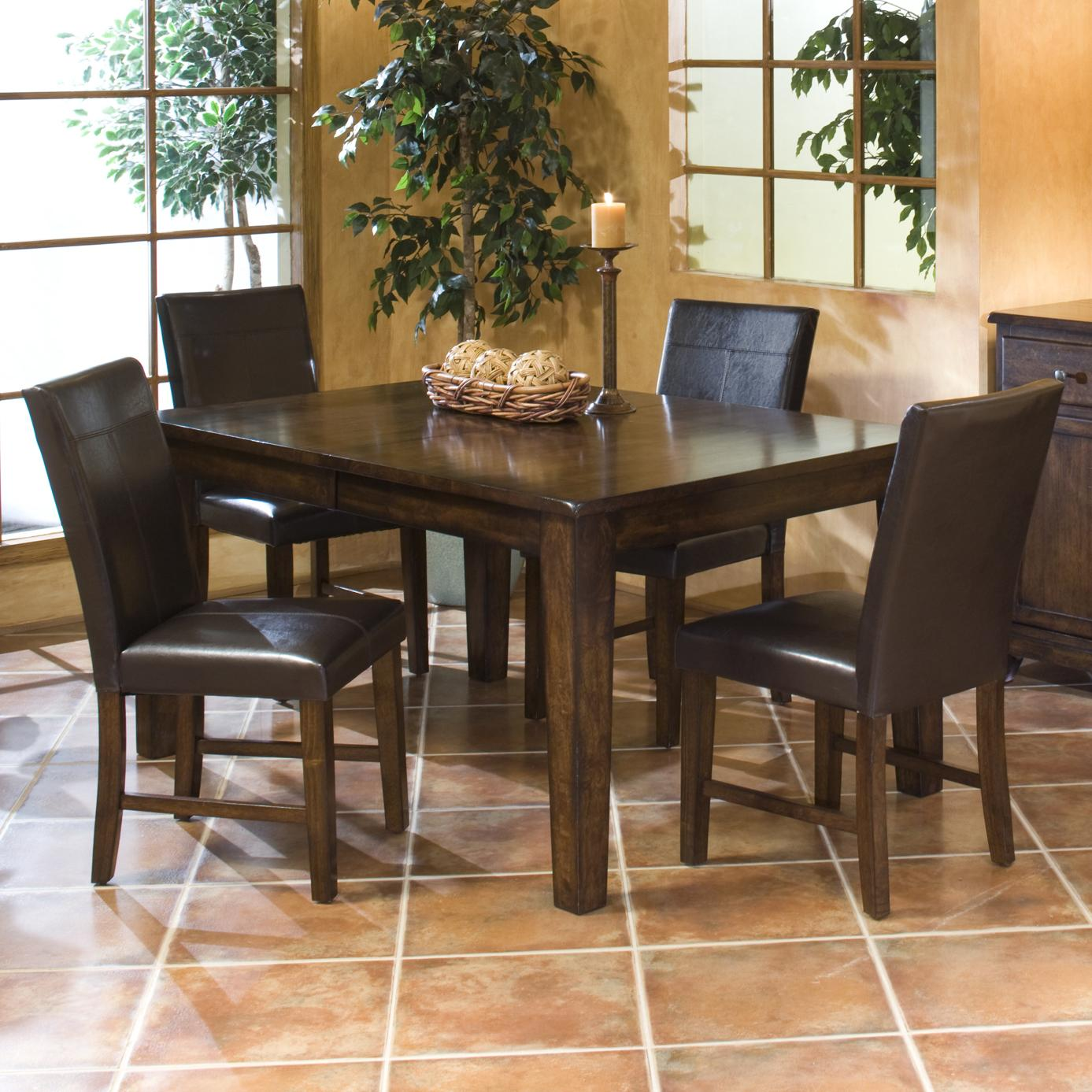 5 Piece Dining Set with Parson's Side Chairs
