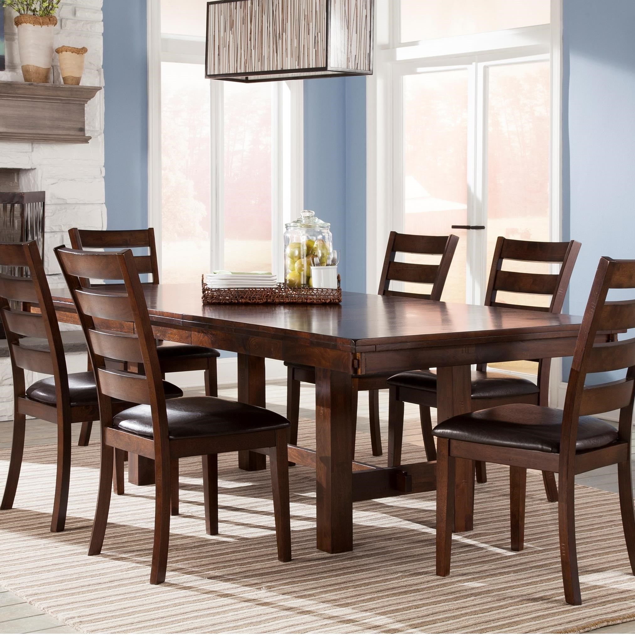 Country Kitchen Fairbanks: Intercon Kona Trestle Dining Table With Leaf