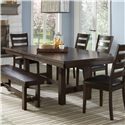 Intercon Kona Trestle Dining Table - Item Number: KA-TA-4492-RAI