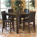 Intercon Kona 5-Piece Dining Set - Item Number: KA-TA-5454G-RAI-C+4xBS-280L-RAI-K24