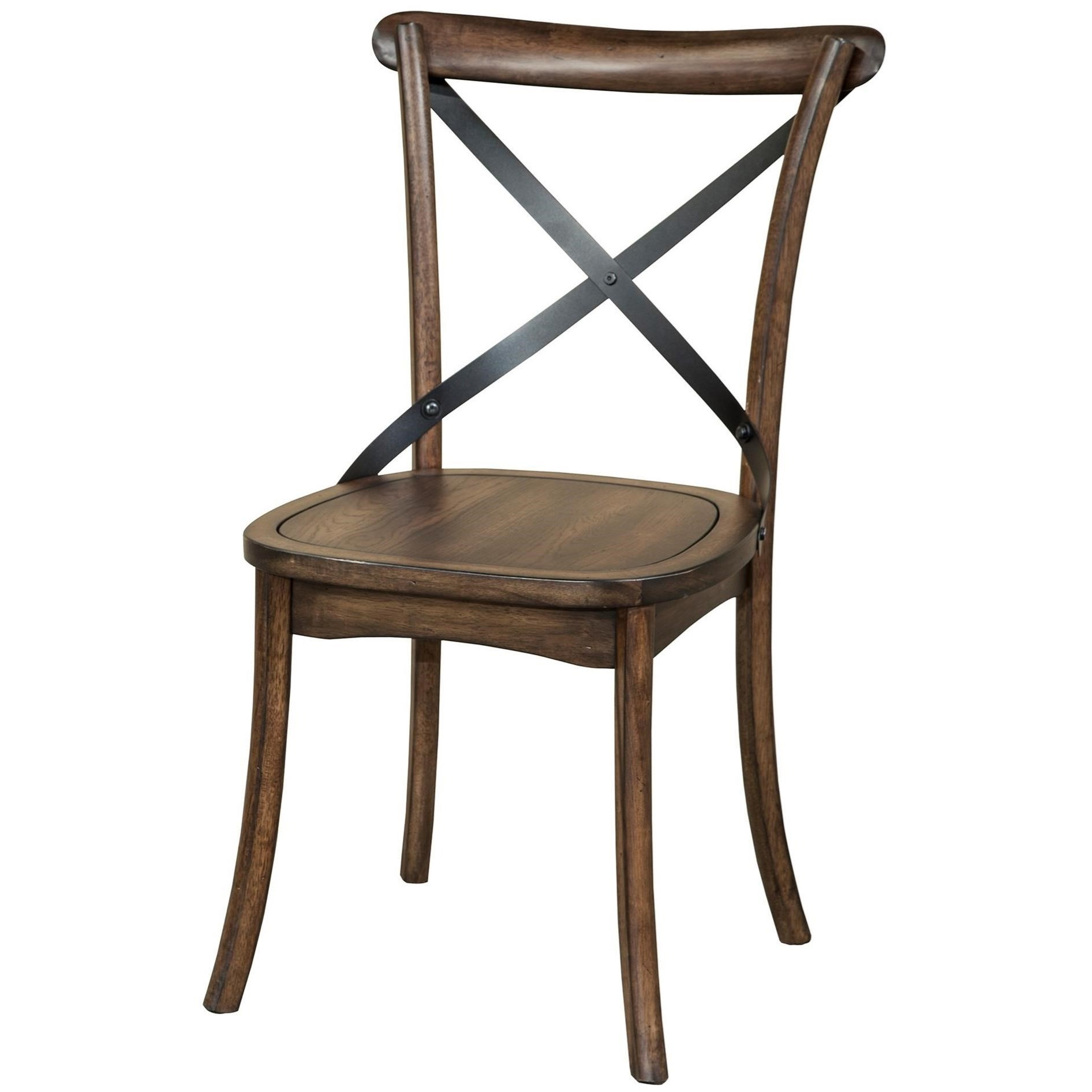 Intercon Lindsay X Back Dining Side Chair Virginia