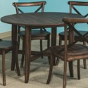 Intercon Lindsay Round Dining Table  - Item Number: LN-TA-4040-WAL-C